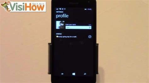 change or update whatsapp status on microsoft lumia 535 visihow