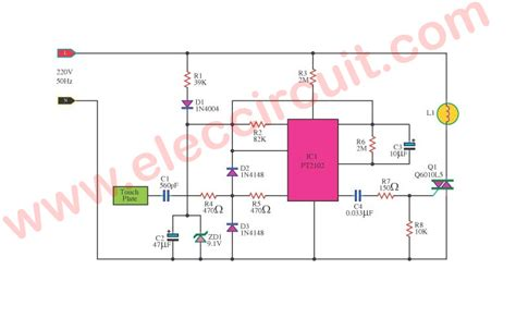 Dimmer Light Touch System Circuit Eleccircuit