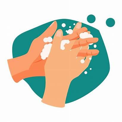 Wash Hands Illustration Handwashing Way Hand Vector