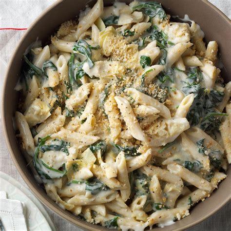 cuisine florentine artichoke florentine pasta recipe taste of home