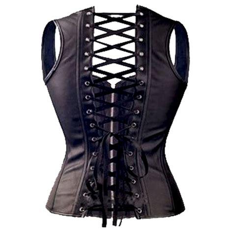 corset si鑒e faux leather corset top steunk corsets bustier black plus size ebay