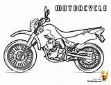 Coloring Motorcycle Colouring Boys Motorcycles Cool Ktm sketch template