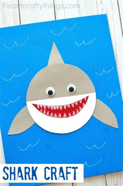 shark week simple paper shark craft activities  kids