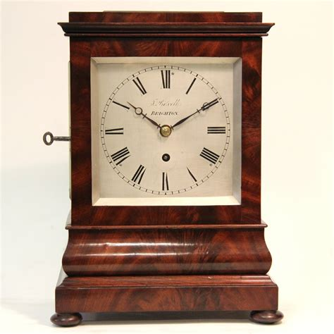 Clock Four Four Glass Library Mantel Clock By Boxell Of Brighton For