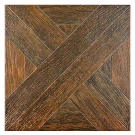 wood tile lowes shop style selections dargento brown wood look ceramic