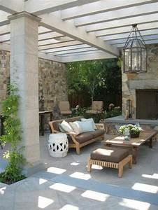 1001 ideen fur terrassengestaltung modern luxurios und With französischer balkon mit offene feuerstelle garten