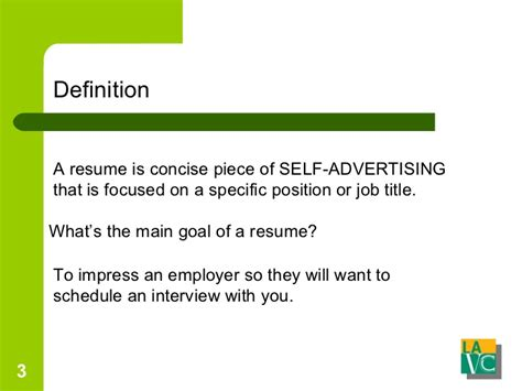 A Resume Definition by Resume And Cover Letters