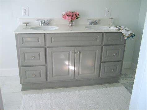 painting bathroom vanity ten june diy custom painted grey builder standard