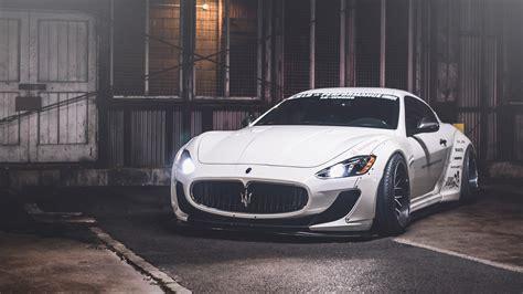 White Maserati Granturismo 4k Ultrahd Wallpaper