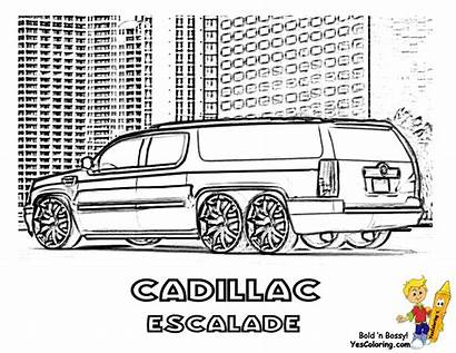 Coloring Cool Cars Pages Limousine Escalade Sheets