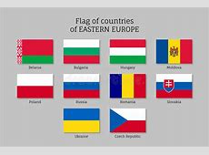 Vector Flags Of Eastern Europe Countries Stock Vector