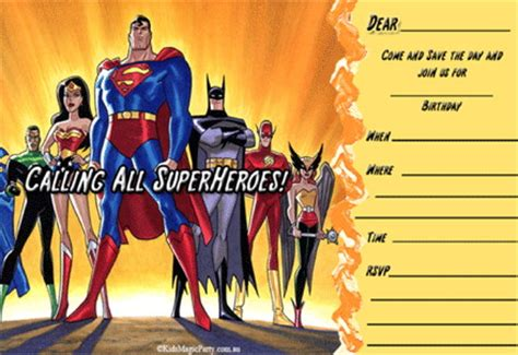 printable superhero birthday invitations bagvania