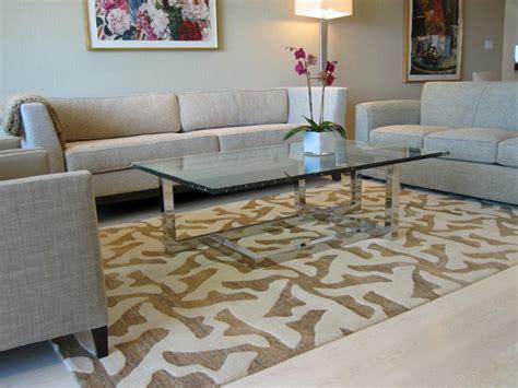 choosing   area rug   space hgtv