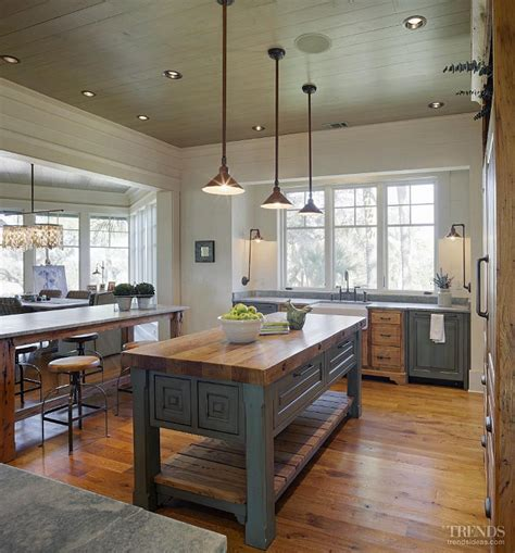 farmhouse style kitchen islands the cabinets in this kitchen are pecky cypress were 7166
