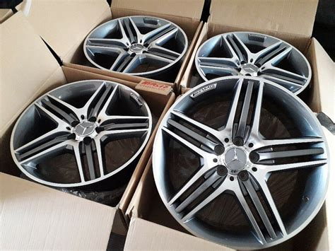 "Elite wheels offer a range of genuine 19″ mercedes amg alloy wheels for sale. BRAND NEW 19"" INCH ALLOY WHEELS R19 ALLOYS MERCEDES C E S CLASS CLS SL SLK 5 SPOKE C63 AMG STYLE ..."