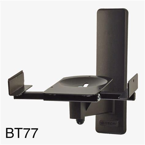 support d enceinte mural b tech bt77 ultragrip pro support mural pour enceinte 25kg max inclinable pivotable noir paire