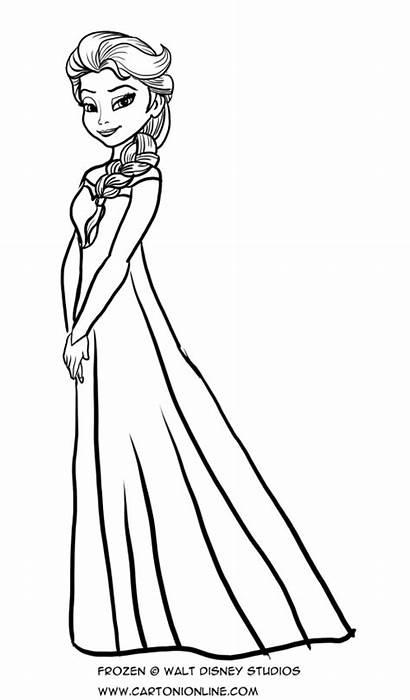 Elsa Colorare Frozen Disegno Colorear Disegni Coloring