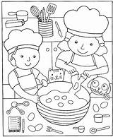 Pizza Coloring Pages Cooking Printable Kitchen Clipart Sheets Cook Preschool Books Google Popular Story sketch template