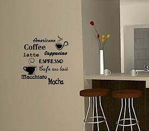 coffee wall art sticker vinyl quote kitchen cafe ebay With best brand of paint for kitchen cabinets with black vinyl sticker