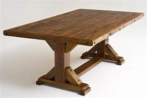 Outdoor wood dining table wood patio table concrete table for Barnwood outdoor table