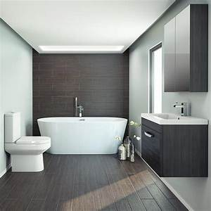 Brooklyn Black Freestanding Bath Suite Victorian