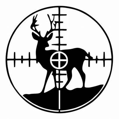 Deer Crosshairs Vinyl Decal Cut Silhouette Decals