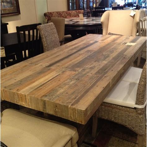 Wooden Tabletop Kitchen by Reclaimed Wood Dining Table For The Home