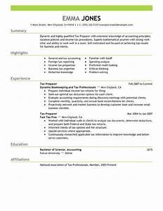 best tax preparer resume example livecareer With tax preparer resume templates