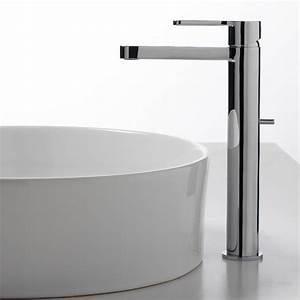Mitigeur vasque haut design klab bonde chrome treemme for Salle de bain design avec mitigeur haut vasque a poser