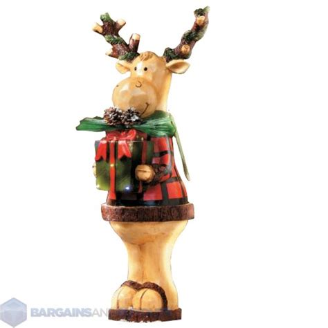 lighted outdoor christmas moose indoor outdoor 24 quot lighted standing moose decoration 418542 ebay