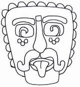 Pages Colouring Mayan Masks Template Coloring Printable South Mask Aztec America Craft Outline Geography Spanish Animal Printablecolouringpages Mexican Map Da sketch template