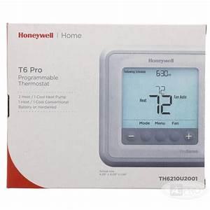 T6 Pro Programmable Thermostat 2 Heat 1 Cool  Hp  1 Heat 1