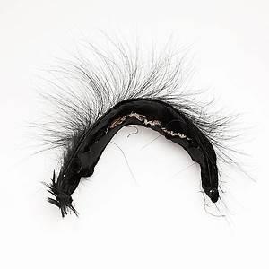 Diadem svart sammet