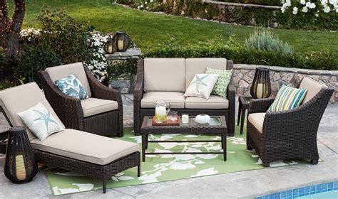 threshold belvedere wicker patio furniture chaise lounge