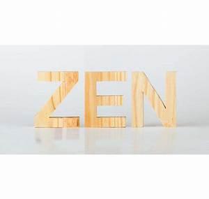 Lettre En Bois A Poser : lettre en bois 30 cm ~ Teatrodelosmanantiales.com Idées de Décoration