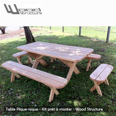 banc table table pique nique banc table de jardin wood structure