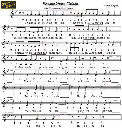 not angka lagu mengheningkan cipta untuk pianika not angka lagu wajib media belajar