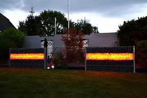 gabionen beleuchtung gabionen led licht mit einer With französischer balkon mit garten beleuchten