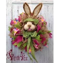 diy bunny wreath tutorial trendy tree