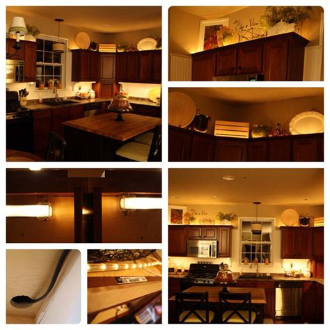 Installing Rope Lighting Above Kitchen Cabinets  Lighting