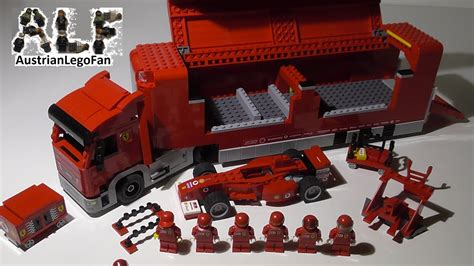 lego racers  scuderia ferrari truck lego speed build