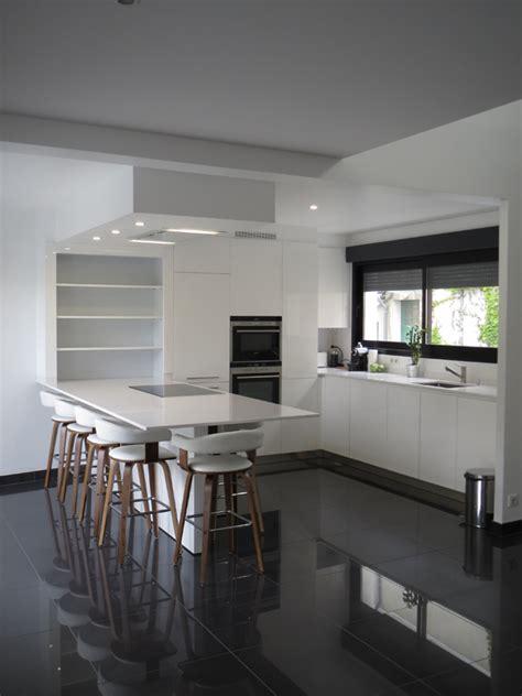 modele cuisine blanc laqué cuisine lineaquattro blanche