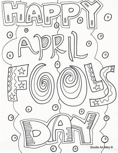 Fools April Coloring Pages Fool Printable Happy
