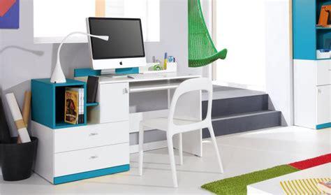 bureaux ado bureau design ado et enfant en bois blanc et bleu jolly
