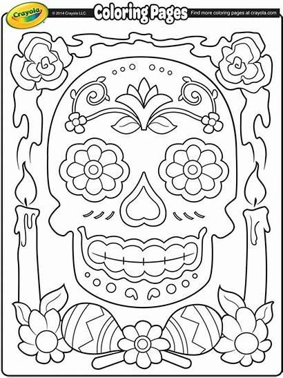 Dia Muertos Coloring Los Crayola Pages