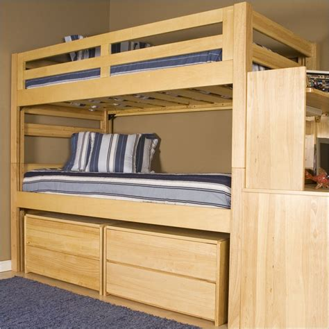 wooden triple lindy bunk bed plans and designs for kids