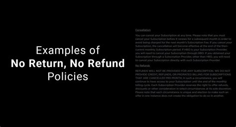 no return policy template exles of no return no refund policies termsfeed