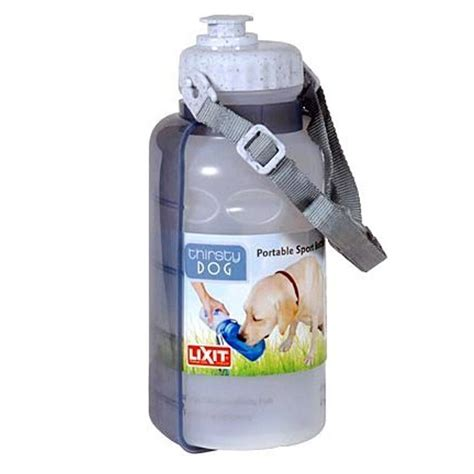 lixit thirsty dog  oz large portable sport water travel