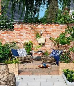 Sitzecke Garten Rattan : garten sichtschutz ziegel zaun rattan m bel hof garten ~ Lateststills.com Haus und Dekorationen