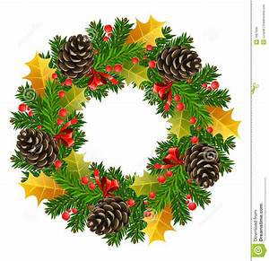 Vector christmas wreath stock illustration. Illustration ...